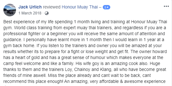 Muay Thai camp Review